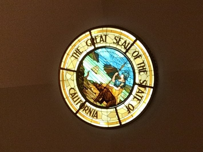 The Seal Of California Features The Goddess Minerva Who Sprung As An